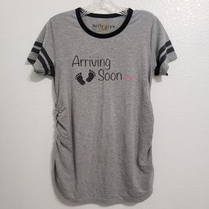Belly Glow Maternity   Arriving Soon Shirt